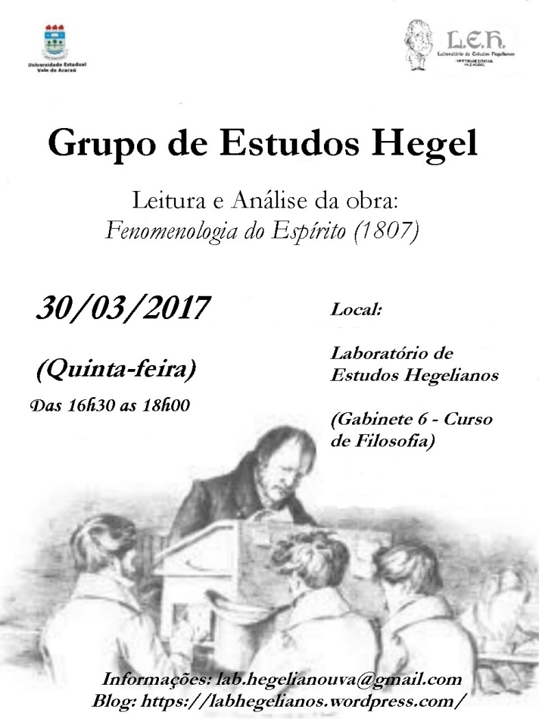 CARTAZ - GRUPO DE ESTUDOS HEGEL